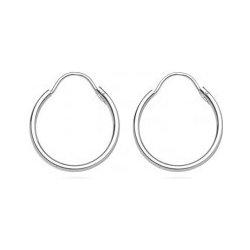 86bb51ddb Šperky eshop strieborné náušnice hladké, duté kruhy, A14.14 od 6,50 ...