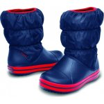 Crocs Winter Puff Boot Kids Navy/Red