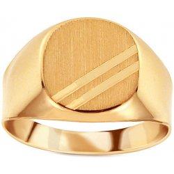 5141c7812 iZlato Design Zlatý pánsky pečatný prsteň s matovaním IZ11508 ...