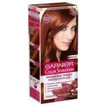 Garnier Color Sensation farba na vlasy s intenzívnymi pigmentami a kvetinovými olejmi 6.46 - hnedočervený jantár