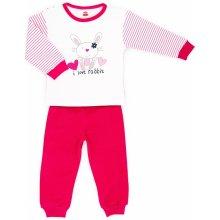 Makoma Dievčenské pyžamo Králik ružovo-biele