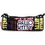 Školský peračník Hello Kitty čierny s nápismi