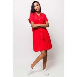 cb67c8a6f821 Červené košeľové midi šaty s krátkym rukávom od 29