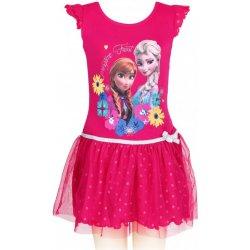 Setino Dievčenské letné šaty Ľadové kráľovstvo Frozen tm. ružové od ... fb41156c63