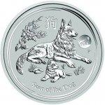 Lunární série II. stříbrná mince 1 AUD Year of the Dog Rok psa 1 Oz 2018 Privy Mark