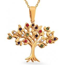 40916e409 iZlato Design Zlatý prívesok s farebnými zirkónmi Strom života IZ15893