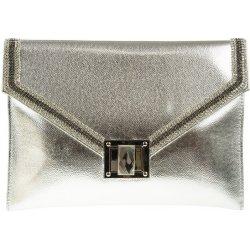 528e865cf2a9 listová kabelka s ozdobnou sponou K-A496 strieborná alternatívy ...