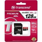Transcend microSDXC 128GB UHS-I U1 + adapter TS128GUSDU1