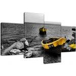baabe2d12 Tlačený obraz Rybárske lode na vode 120x70cm 129A_4Z