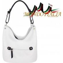 c041c08990 Made In Italy kožená kabelka na rameno 631 biela