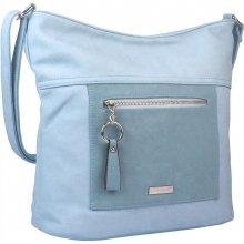 New Berry Veľká crossbody dámska kabelka s čelným vreckom NH8047 svetlo  modrá b4e21270f58