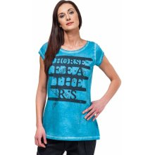 Horsefeathers feathers top washed blue