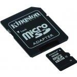 Kingston microSDHC 16GB class 4 + adaptér SDC4/16GB