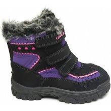 ALPINE PRO Dievčenské zimné topánky Chrono čierno-fialové