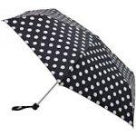 Fulton Dámský skládací mechanický deštník Miniflat White Spot L340-2