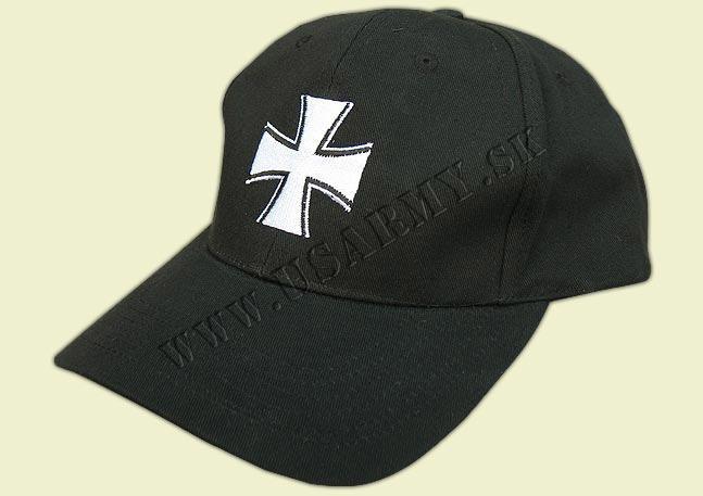 f77098cfa Rybárska šiltovka, čapica, rukavica ČIAPKA BASEBALL ′KRÍŽ′ ČIERNA ...