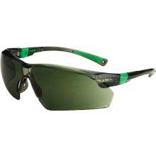 MSA Univet 506UP, čierno-zelený rám, zelené sklá s povrchovou vrstvou proti poškriabaniu, UV400, vhodné na šoférov.