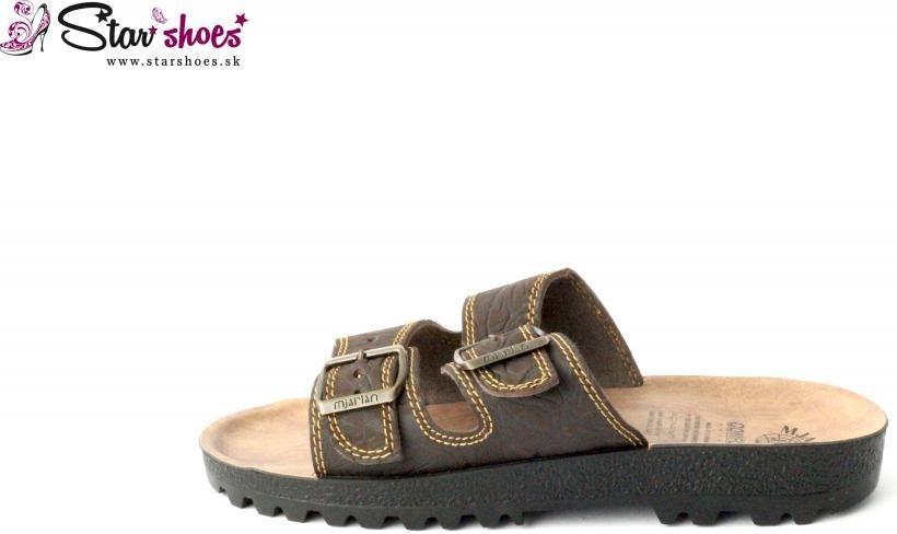6a9bc84a461e8 Pánska topánka Mjartan 9018-P07 pánske šľapky hnedé - Zoznamtovaru.sk
