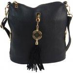 Bella Belly crossbody dámska kabelka s bočnými vreckami 2494-BB čierna