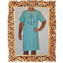 Velká kotva pánská noční košile kr.rukáv sv.modrá