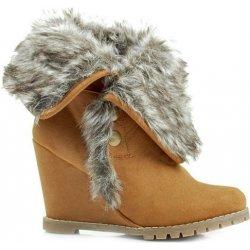 Vices Zimné hnedé členkové topánky na platforme - X334C alternatívy ... f5dda12b31f