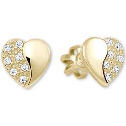 3be4f666f Brilio zlaté náušnice Srdiečka s kryštálmi 239 001 00878 od 79,20 ...