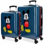 6011edff04 JOUMMABAGS Sada cestovných kufrov ABS Mickey blue ABS plast