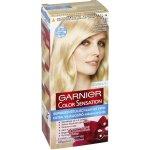 Garnier Color Sensation 110 superzosvetľujúca prírodná blond, farba na vlasy s intenzívnymi pigmentami a kvetinovými olejmi