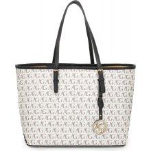 60ae202ac luxusná shopper kabelka Lydia čierno-biela