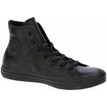 f1be9f198b93b9 Converse Chuck Taylor All Star Leather Hi 135251 Black Monochrome