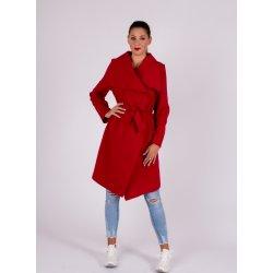 Kabát s viazaním Červený alternatívy - Heureka.sk b00db4ce035