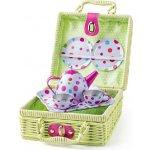 Woody Piknik košík s čajovou súpravou 8ks
