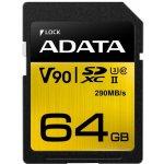 ADATA SDXC 64GB UHS-II U3 ASDX64GUII3CL10-C