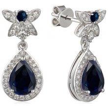 4add2ab85 iZlato Design zafírové náušnice s diamantmi IZBR637ZN