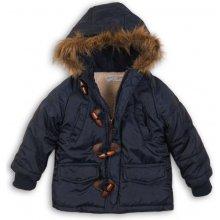 Minoti Cross 10 bunda chlapčenská zimná Parka Puffa nylonová prešívaná modrá