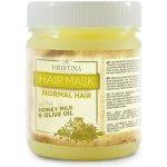 Hristina maska na vlasy pre normálne vlasy med, mlieko a olivový olej 200 ml