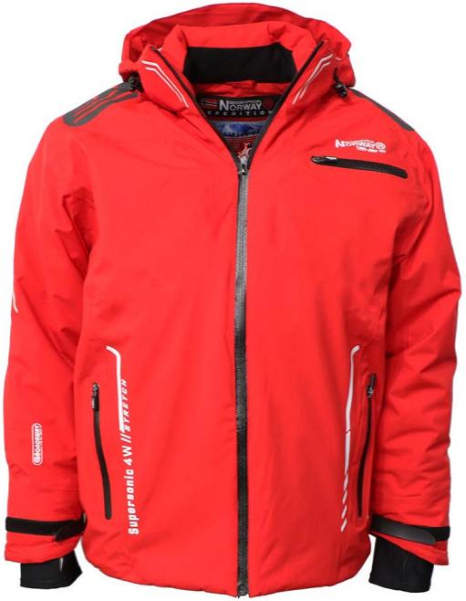 0a74b59bc Geographical Norway bunda pánska WAPITI MEN 009 lyžiarska červená