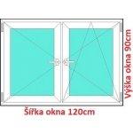 Soft Dvojkrídlové plastové okno 120x90 cm, O+OS