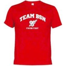 """BSN Team BSN T Shirt """"Red-Finish First"""""""