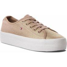 Tommy Hilfiger Metallic Flatform Sneaker Desert Sand 218522f23fe