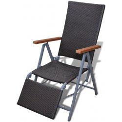 7bd2596ac7b2f vidaXL 40930 Ratanová hnedá stolička, hliníkový rám alternatívy ...