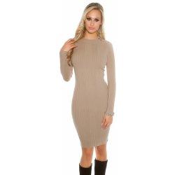 91b687504e22 KouCla dámske dlhé pletené šaty Béžová 0000ISF8928 alternatívy ...