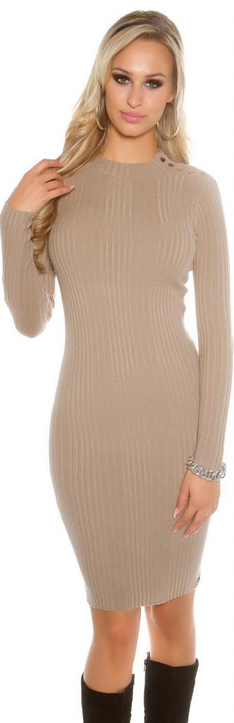 c46392f1cd0e KouCla dámske dlhé pletené šaty Béžová 0000ISF8928 alternatívy - Heureka.sk