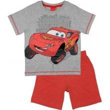 E plus M Chlapčenské pyžamo Cars šedo-červené