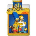 Jerry Fabrics obliečky Simpsons Family Bavlna 140x200 70x90