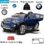 2b481e5a5c0b5 Joko elektrické autíčko BMW X6 LAK 12V čalúnené sedadlo 24 GHz Diaľkové  ovládanie FM rádio SD
