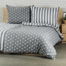 4Home bavlna obliečky Stars sivá 140x200 70x90
