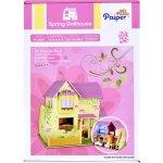 """Papierové 3D puzzle """"domček pre bábiky"""", 103 dielov"""