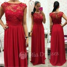 Šifónové spoločenské šaty červená