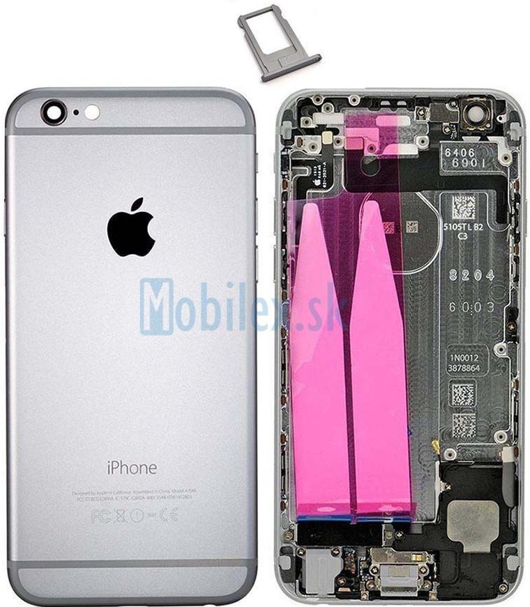 Špecifikácia Kryt Apple iPhone 6 zadný sivý - Heureka.sk f1ef512a025